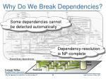 why do we break dependencies