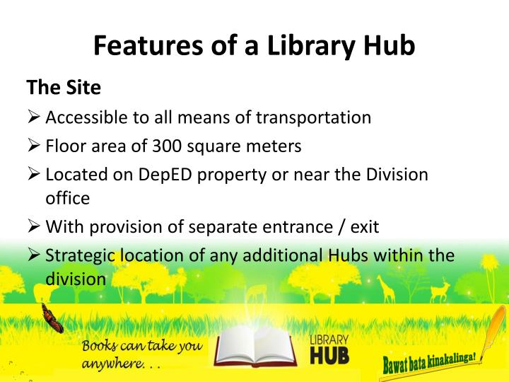 Features of a Library Hub
