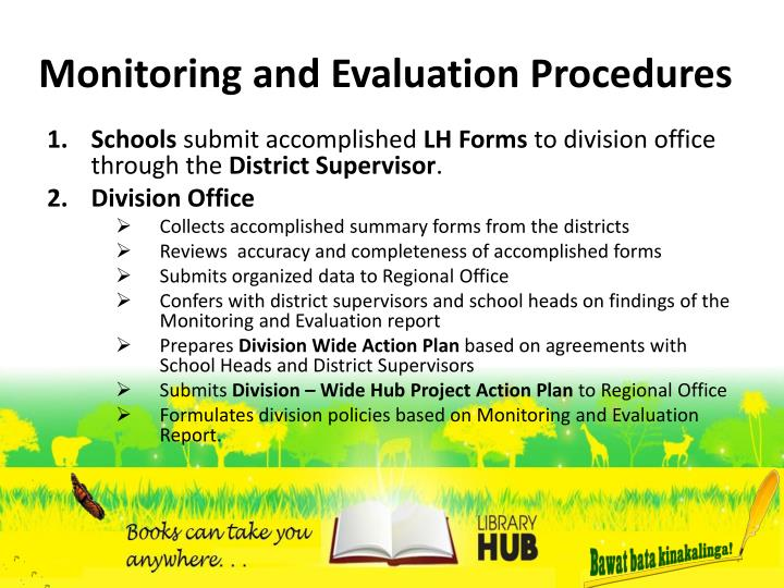 Monitoring and Evaluation Procedures