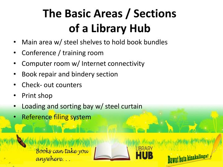 The Basic Areas / Sections