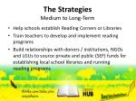 the strategies medium to long term