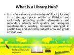 what is a library hub