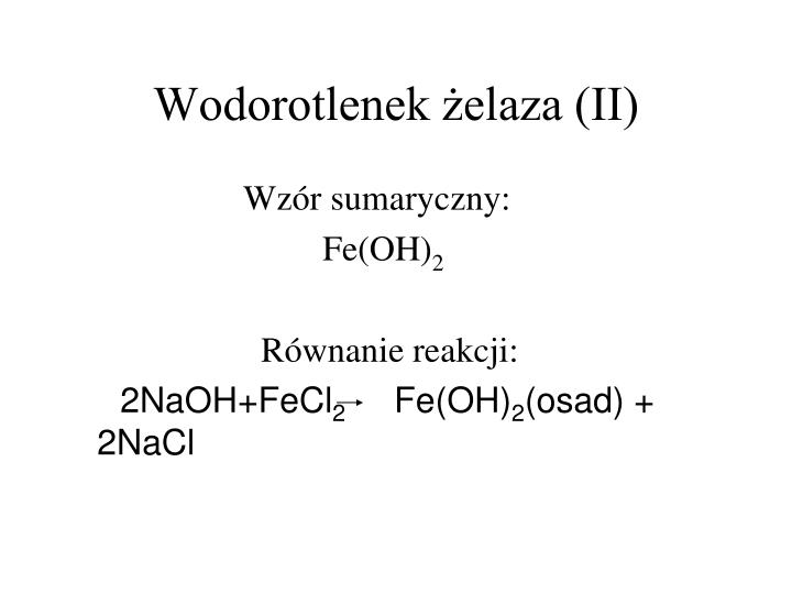 Wodorotlenek żelaza (II)