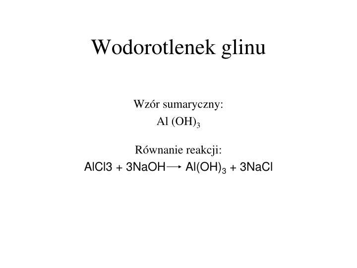 Wodorotlenek glinu