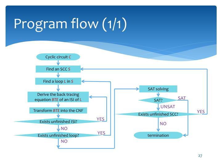 Program flow (1/1)