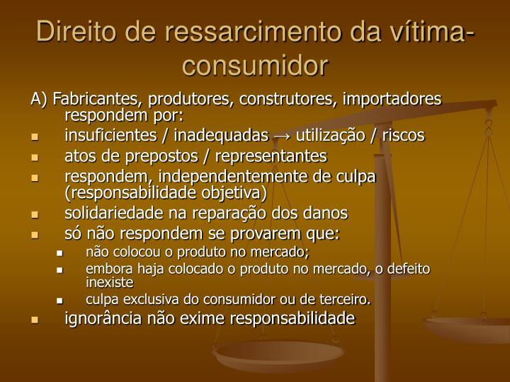 Direito de ressarcimento da vítima-consumidor