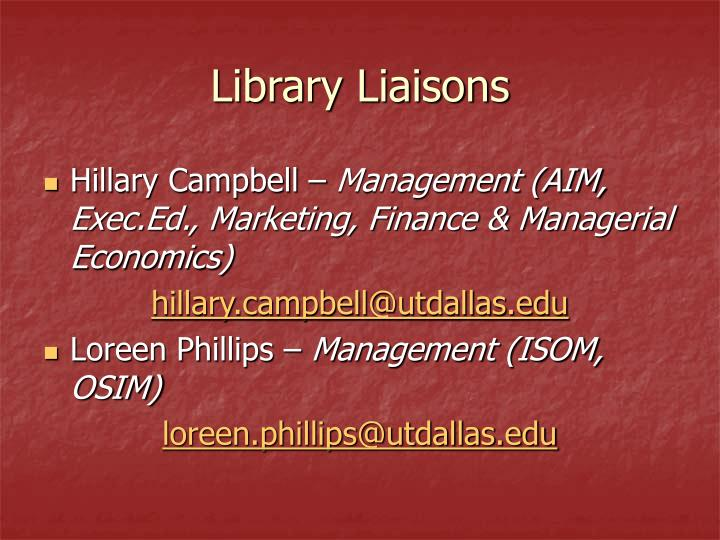 Library Liaisons