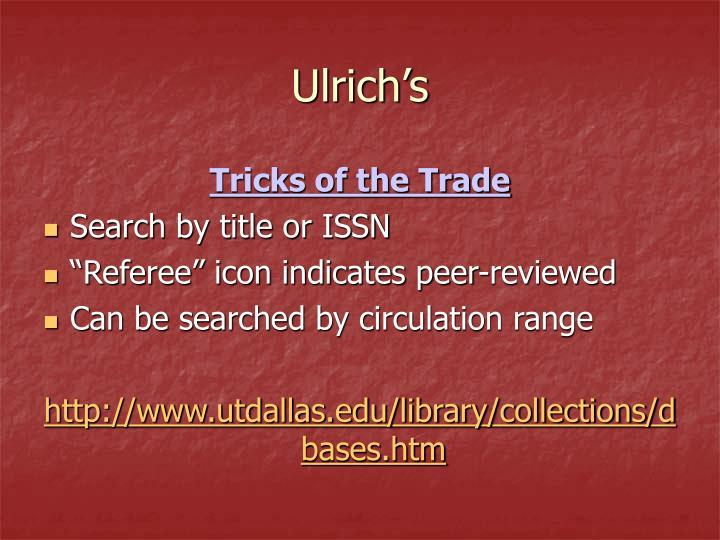Ulrich's