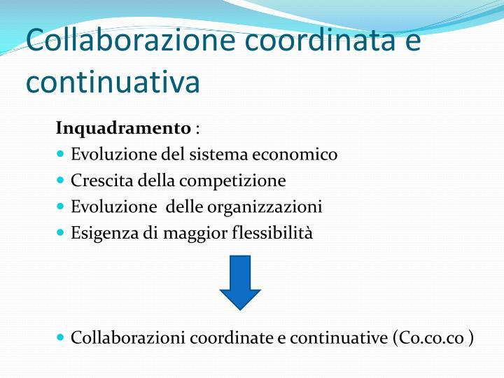 Collaborazione coordinata e continuativa