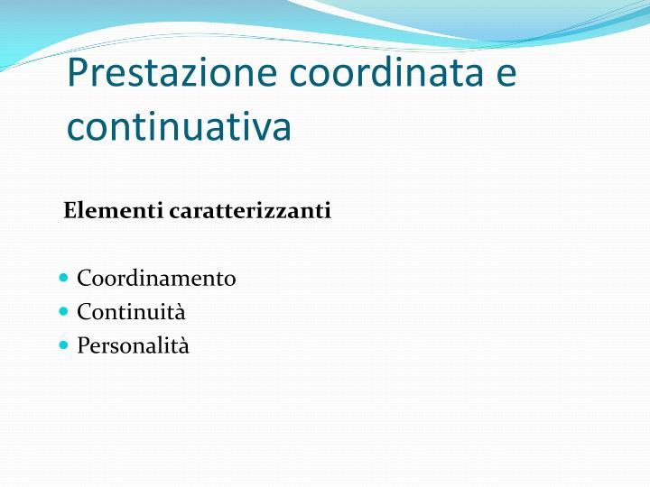 Prestazione coordinata e continuativa