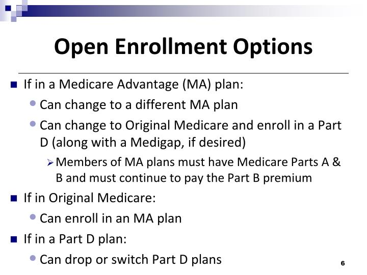 Open Enrollment Options
