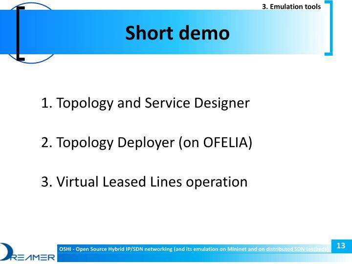 3. Emulation tools