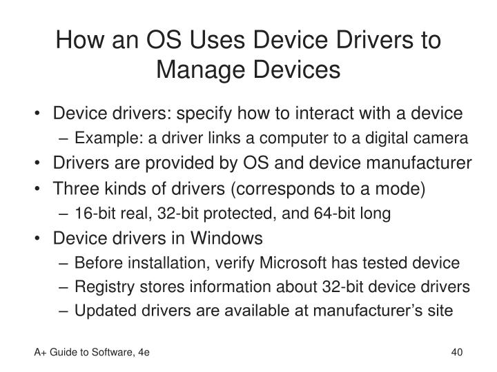 How an OS Uses Device Drivers to Manage Devices