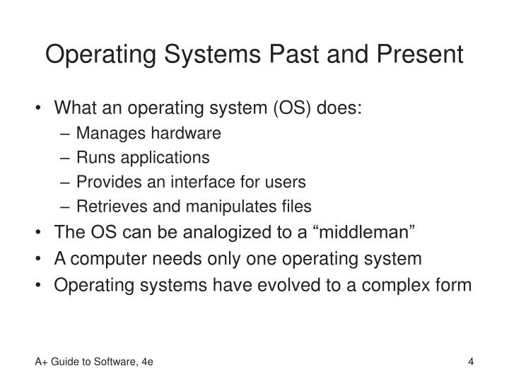 Operating Systems Past and Present