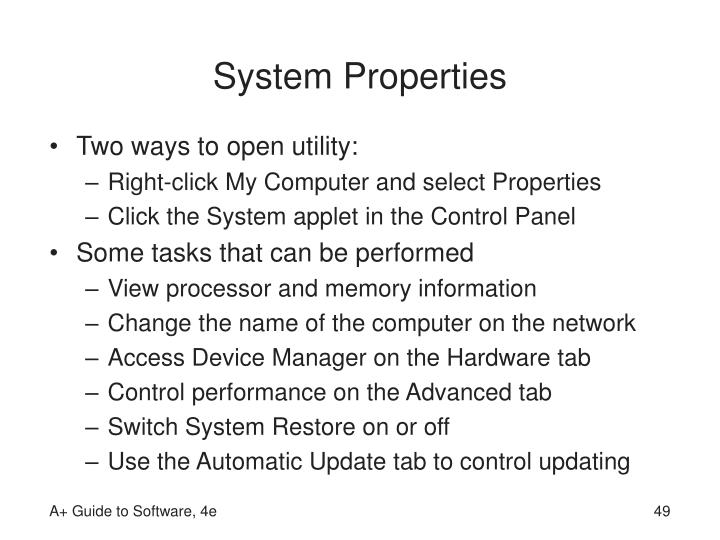 System Properties