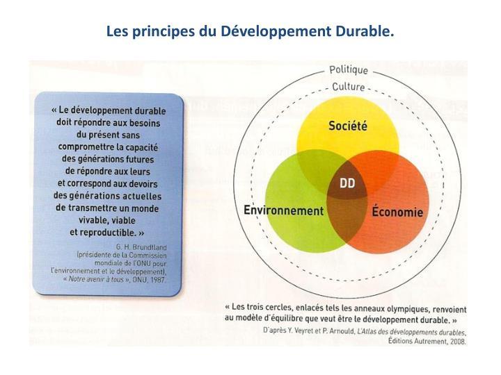 Les principes du Développement Durable.
