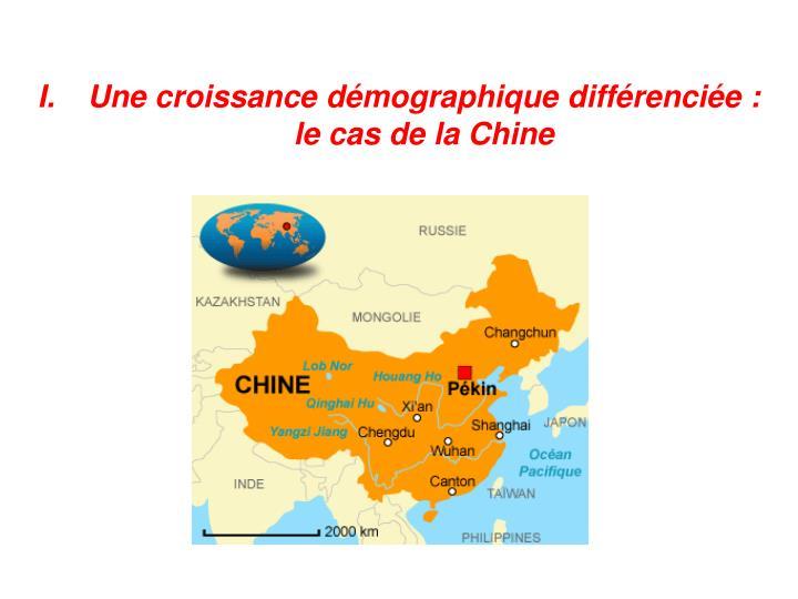 Une croissance démographique différenciée : le cas de la Chine