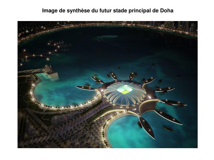 Image de synthèse du futur stade principal de Doha