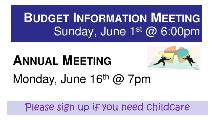 Budget information meeting