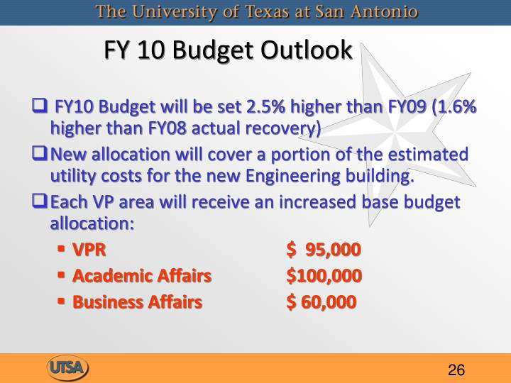 FY 10 Budget Outlook