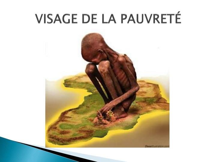 VISAGE DE LA PAUVRETÉ