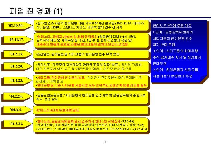 파업 전 경과 (1)