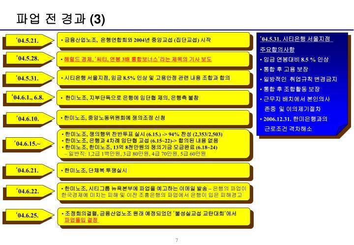 파업 전 경과 (3)