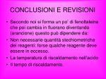 conclusioni e revisioni
