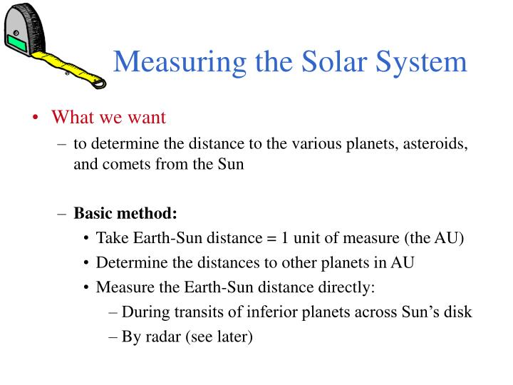 measuring the solar system