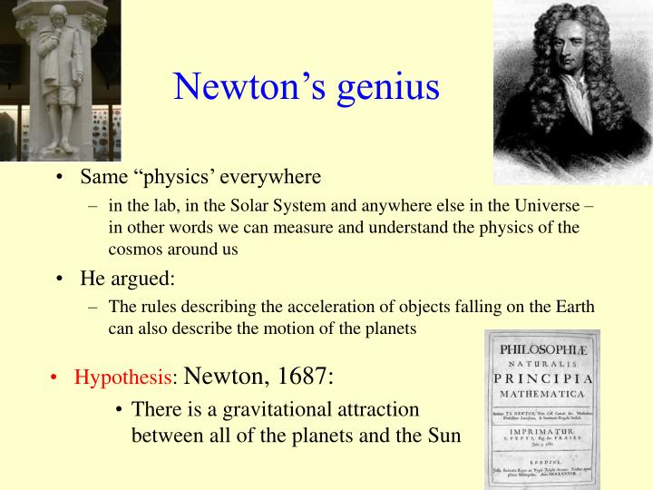 Newton's genius