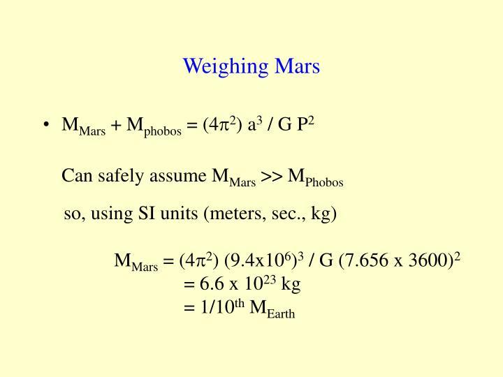 Weighing Mars