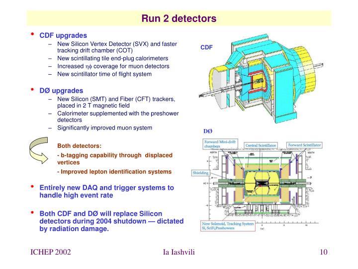 Run 2 detectors