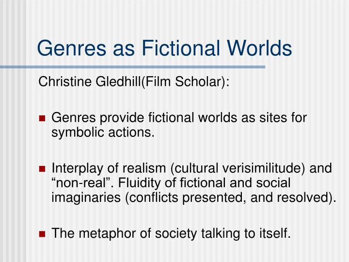 Genres as Fictional Worlds