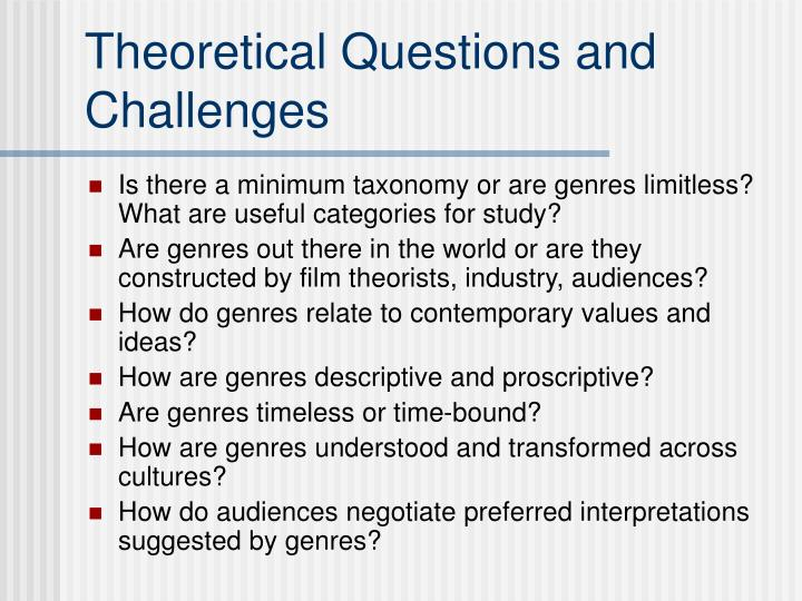 Theoretical Questions and Challenges