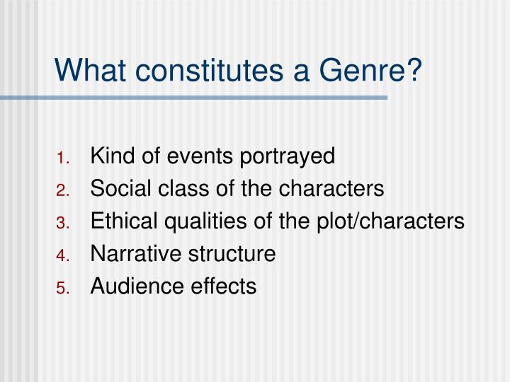 What constitutes a Genre?