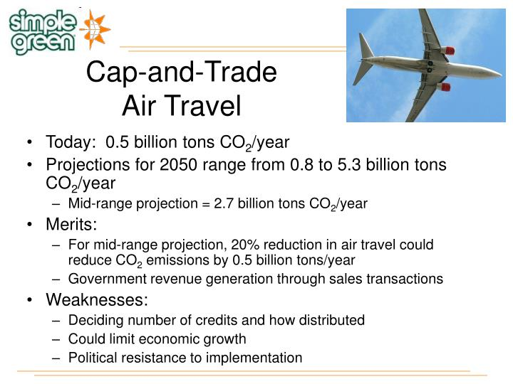 Cap and trade air travel