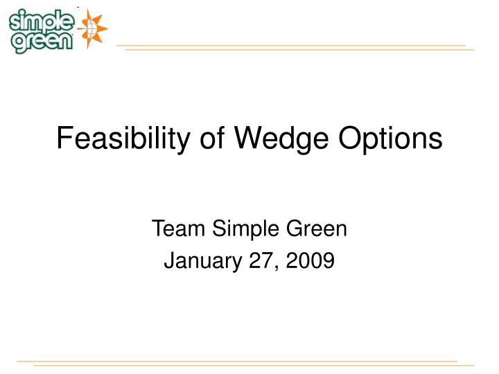 Feasibility of wedge options