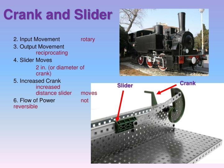 Crank And Slider Uses : Ppt building mechanisms powerpoint presentation id