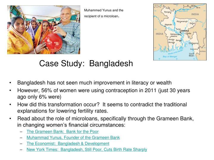 Case Study:  Bangladesh