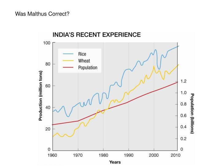 Was Malthus Correct?