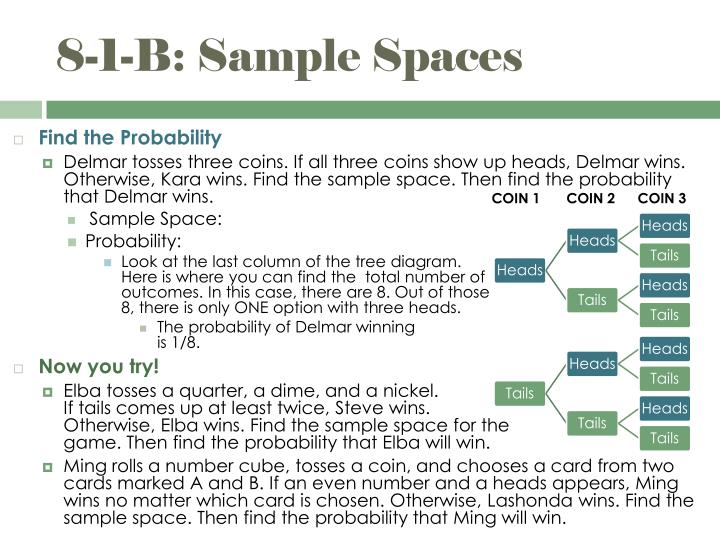 8-1-B: Sample Spaces