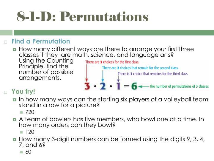 8-1-D: Permutations