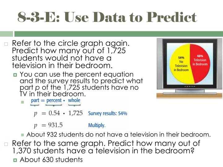 8-3-E: Use Data to Predict