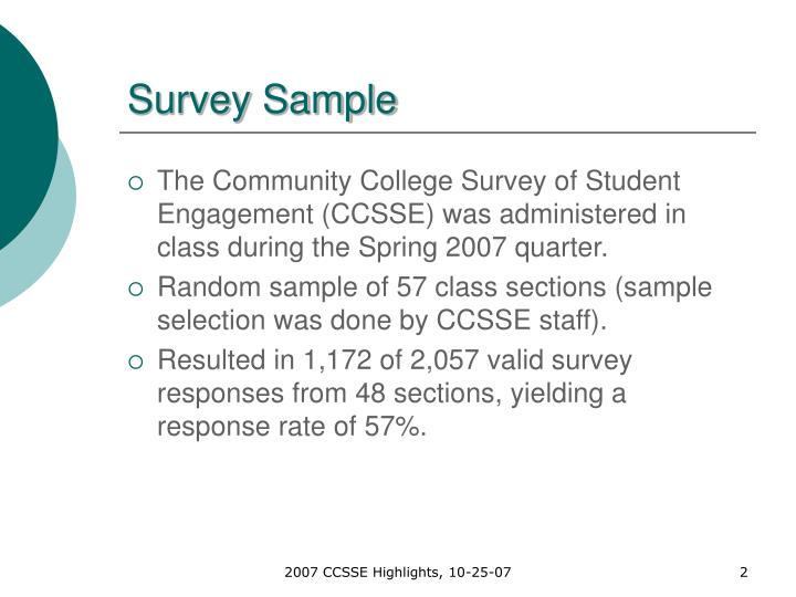Survey sample
