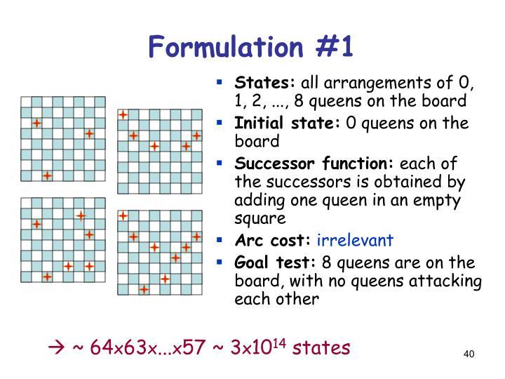 Formulation #1