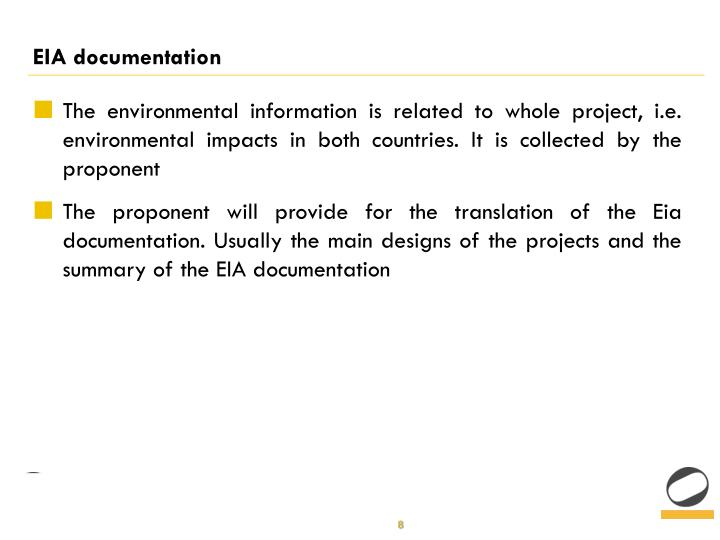 EIA documentation