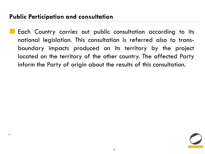 Public Participation and consultation