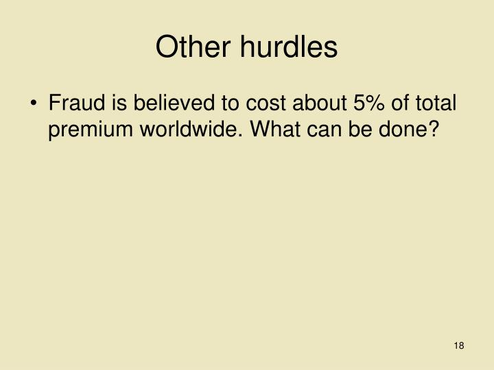 Other hurdles