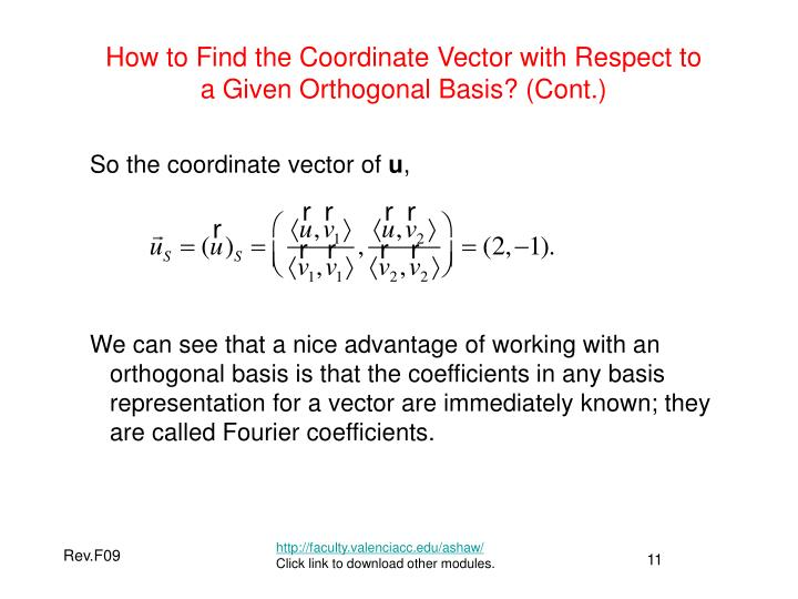 How to Find the Coordinate Vector with Respect to