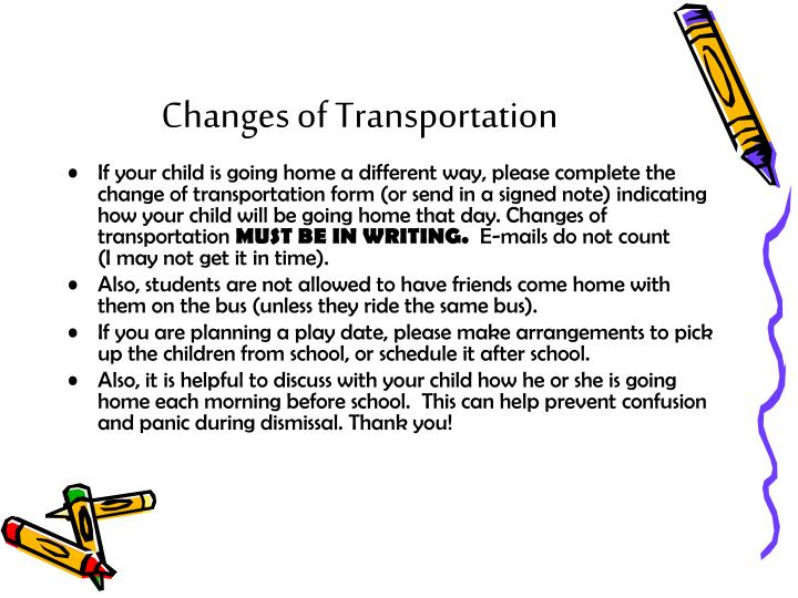 Changes of Transportation